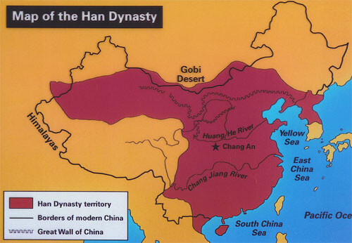 Map of Han Dynasty